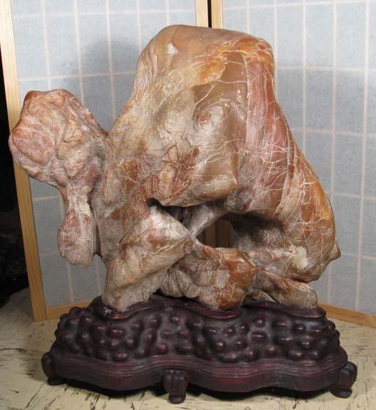 L3 Red Lingbi Stone 63x49x21 cm